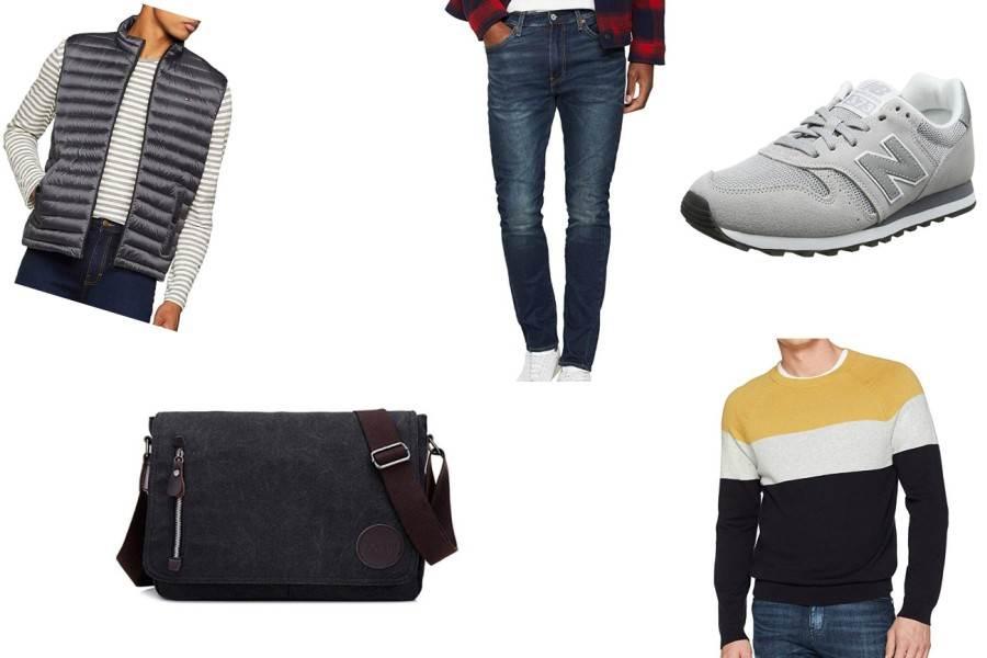 Eine leichte Weste über einem Pullover, dazu eine Jeans mit schlichten Sneakers und einer Tasche